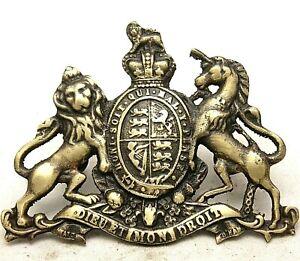 Rustic Cast Brass Antique Style ROYAL COAT OF ARM Shield Monogram Plaque #28
