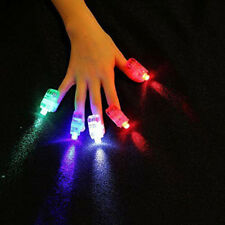 5PCS LED Finger Light Glow Light UP Beam Party Fillers Concert Ring Flashing NG