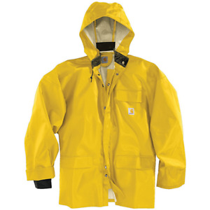 Carhartt Surrey PVC Waterproof Work Jacket - Sz. M L XL 2XL - Yellow - 100100