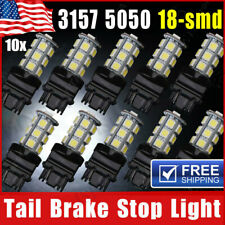 10x 3157 18SMD LED Tail Brake Stop Backup Reverse Turn Light Bulb White 6000K US