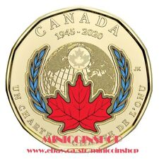 Canada 2020 Special $1 Loonie 75th Ann Signing Of The United Nations Charter