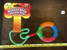 Golden Pet Dog Rubber Ring Throw Toy Fetch Dog Pet Fitness Fun