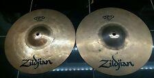 "**Zildjian 13"" ZBT Top and Bottom HiHats Cymbals"