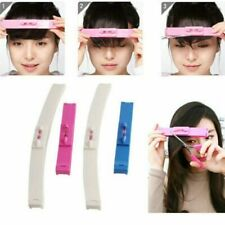 2Pcs DIY Professional Bangs Hair Cutting Clip Comb Hairstyle Trim Ruler Tool
