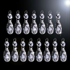15x 38mm Clear Glass Crystal Chandelier Lamp Part Drops Prisms Hanging Pendant
