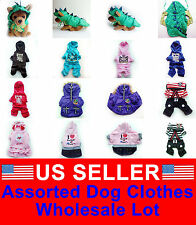 WHOLESALE LOT OF 5 Chihuahua Pet Dog Clothes Puppy Costume New Apparel Male XS