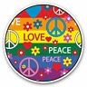 2 x Vinyl Stickers 7.5cm - Peace Love Hearts Rainbow Flag Cool Gift #5353