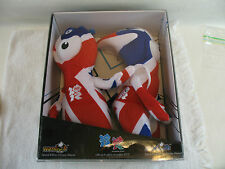 London 2012 Olympic/Paralympic Union Jack plush mascots Wenlock and Mandeville