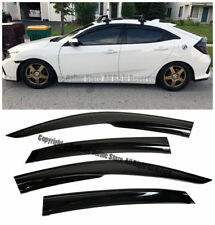 For 16-Up Honda Civic Hatchback JDM Mugen Style Smoke Tinted Side Window Visors