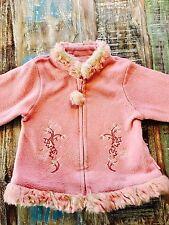 Pampolina warme Jacke Gr. 86 Pink 💖 DIE SCHÖNSTE 💕 Fellkragen Übergangsjacke