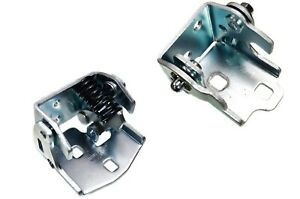 Door Hinge Rear Driver Side Lower and Upper Set of 2 for Cadillac Chevrolet GMC
