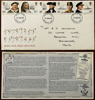 Maritime Heritage Royal Mail First Day Cover 1982 + Insert