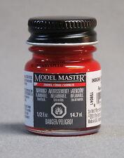 TESTORS PAINT MODEL MASTER INSIGNIA RED ENAMEL 1/2oz 14.7ml  NEW 1705