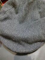 Vintage 100% Virgin Wool Pendleton Newsboy Hat Gray Men Medium M Cap Cabbie USA