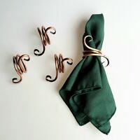 Gregorian Copper Napkin Holder Flower Design Vintage