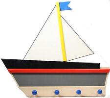 Garderobe Schiff bunt Holzgarderobe Kindergarderobe Bajo Kinderzimmer Holz