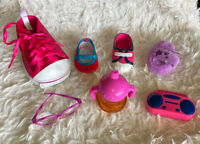 Lot of Single Pairs of American Girl BABW Our Generation Doll Shoes Accessories
