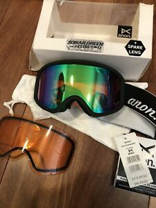NEW Anon Insight Ski Snow Goggles W/ 2x Sonar Green / Amber Lens
