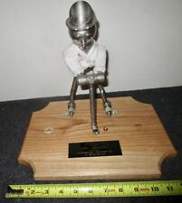 Aeroquip metal sculpture steampunk 40 years of service effigy made from fittings