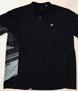 Pearl Izumi Men's Cycling Jersey Black Short Sleeves 1/2 Zip Black Gray Size XXL