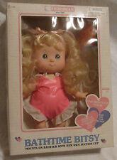 Rare New Vtg Bathtime Bitsy Bathtub Suction Cup Baby Doll Horsman Box Blonde