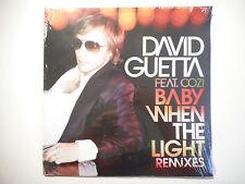 """MAXI 12"""" ▒ DAVID GUETTA : BABY WHEN THE LIGHT (REMIXES) - MINT / NEUF"""