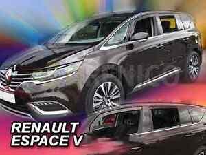 RENAULT ESPACE V 5-portes 2014-présent Deflecteurs de vent 4-pcs HEKO Bulles
