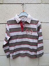 Polo BURBERRY enfant rayé brodé manches longues 8 ans / 128 cm