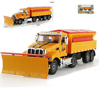 Winter Service Vehicle Snowplow Snow Truck Car Model Toy 1:50 Scale Diecast