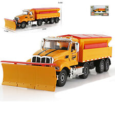 Winter Service Vehicle Snowplow Snow Truck Car Model Toy 1:50 Scale Diecast