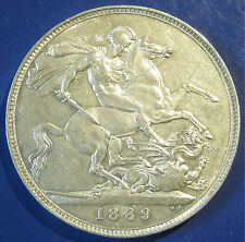 1889 5/- Victoria silver 1+A Crown in an extremely high grade