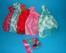 26 Pieces Doll Dresses Clothes Shoes Accs for Barbie Random Color/Style
