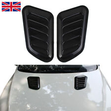2 x ABS Car Auto Decorative Intake Scoop Turbo Bonnet Vent Cover Hood Black
