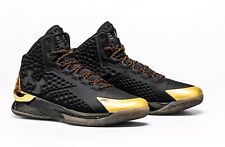 DS MENS UNDER ARMOR CURRY 1 SHOE PALACE 25TH ANNIVERSARY 3022392 001 BLACK SZ 10