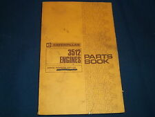 CAT CATERPILLAR 3512 ENGINE PARTS BOOK MANUAL S/N 49Y1-UP