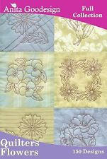 Anita Goodesign Quilters Flowers Embroidery Machine Design CD