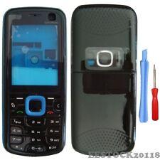 Blue Black Fascia Full Housing Case Cover Bezel Faceplate Keypad for Nokia 5320