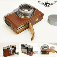 Genuine real Leather Half Camera Case bag cover for FUJI X20 X10 Bottom Openning