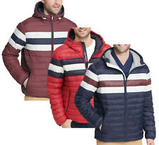 Tommy Hilfiger Quilted Colorblocked Down Hooded Puffer...