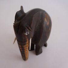 Eléphant sculpture figurine statue bois ébène fait main Afrique art déco N4293