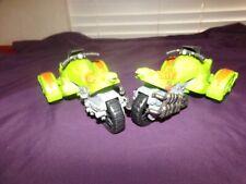 TMNT Green Motorcycle Motorbike Trike Lot of 2 Vehicles TMNT 2013.