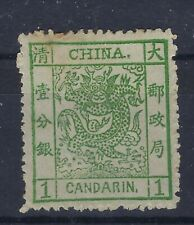 China 1878-83 Large Dragon 1ca thin paper unused without gum