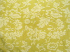 Queen Size Duvet Cover from Pine Cone Hill in Lime and White Botanical Floral