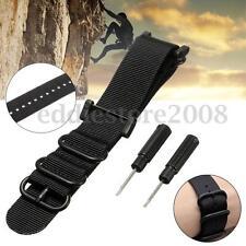 Black Watch Band Nylon Zulu Strap 5-Ring Lugs Adapters PVD Kit For Suunto Core