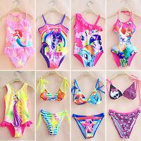 Bambine Pezzo Unico Costume da bagno bikini nuoto Set 2-10y anni