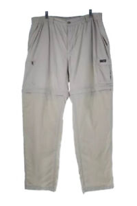 Columbia Hiking Pants  Mens Convertible Packable Beige Pockets Lined L