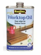 RUSTINS 500ML WORKTOP OIL QUICK DRY PROTECTS & NOURISHES WOOD TIMBER CLEAR