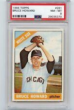 1966 TOPPS BASEBALL #281 BRUCE HOWARD, CHICAGO WHITE SOX - PSA 8 NM-MT (35370)