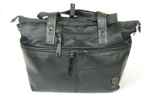 Lululemon Yoga Black Duffle Gym Weekend Diaper Shoulder Bag Handbag