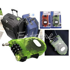 Protable Retractable Bike Luggage Safety 3 Digit Combination Cable Password Lock